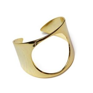 jules smith // gold open circle cuff bracelet